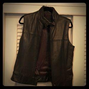 Andrew Marc leather vest